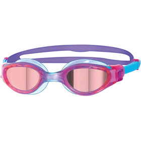 Zoggs Phantom Elite Mirror Occhiali Da Nuoto Bambino, pink/purple/mirror